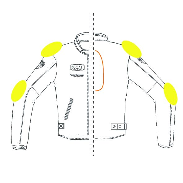 odnímatelné měkké chrániče loktů a ramen Warrior Lite (certifikované podle  normy EN 1621.1 Lv. 1) e276afc948