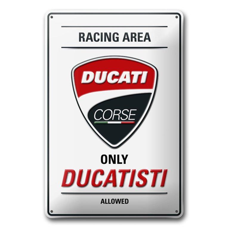 322725d41f0 Plechová cedule Ducati Corse - DUCATI SHOP - značkové oblečení a ...